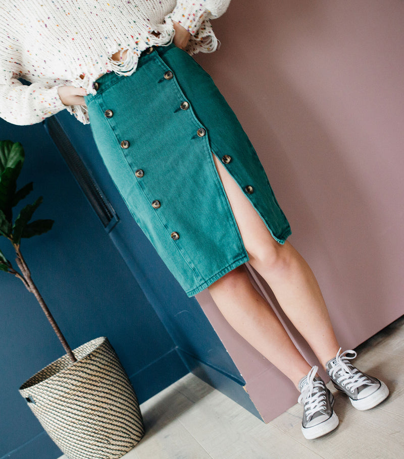 Far Out Denim Skirt