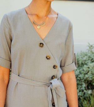 Buttondown Midi Dress