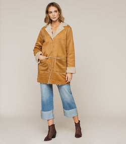 BE LOVELY CAMEL COAT