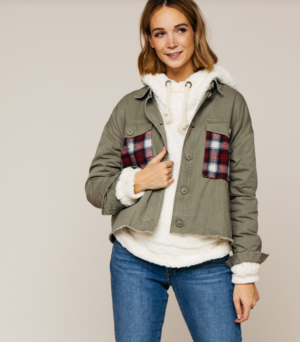 Plaid Detail Jacket