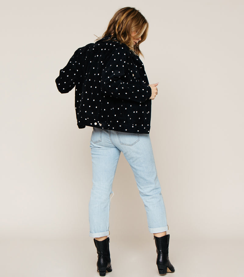 POLKA DOT CORDUROY JACKET