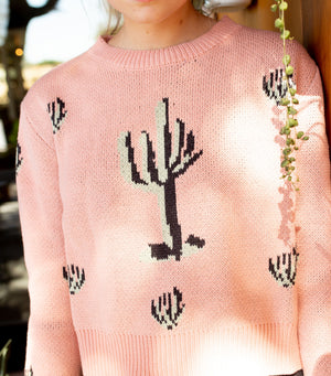 Cactus Pull Over Sweater