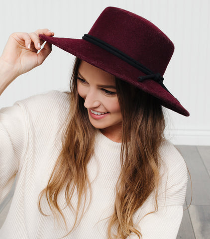 All The Feels Hat-Burgundy