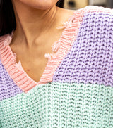 Sugar Sweet Sweater-Lilac Mint