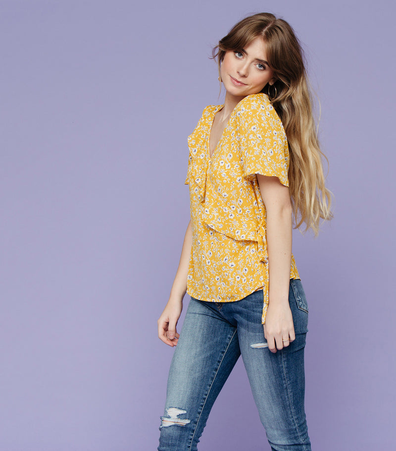Viola Wrap Blouse