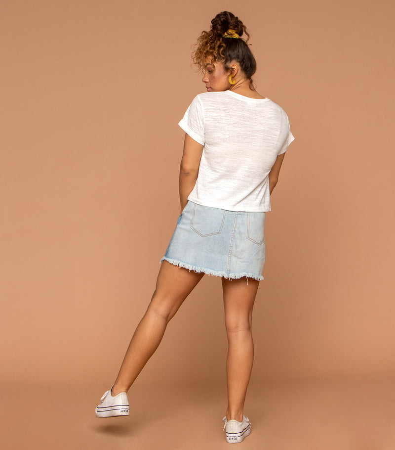 Yours Truly Denim Skirt