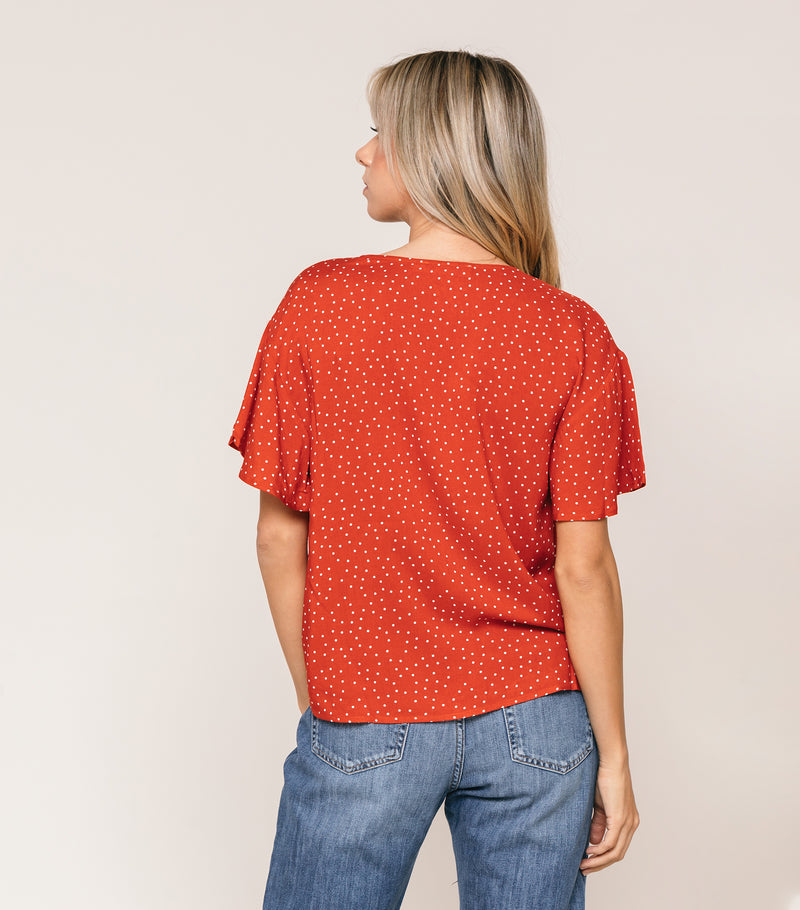 dotted knot blouse