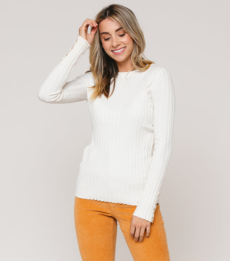 Button Cuff Sweater