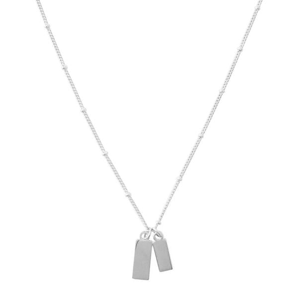 Tag Together Necklace Silver