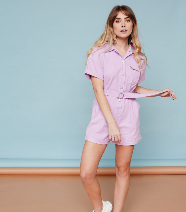 Belted Utility Romper