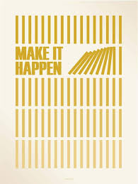 make it happen amber 50x70