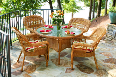 Tortuga Outdoor Portside 5 Piece Dining Set 4 Chairs 48 Dining