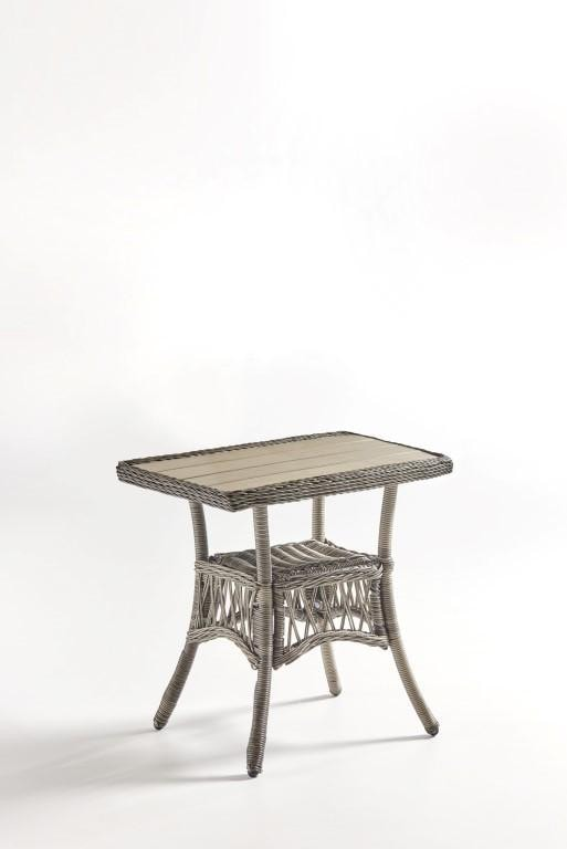 South Sea Rattan South Sea Rattan West Bay End Table - Poly Top Table Top - Rattan Imports