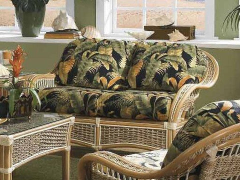 Spice Islands Spice Islands Islander Loveseat Natural Loveseat - Rattan Imports