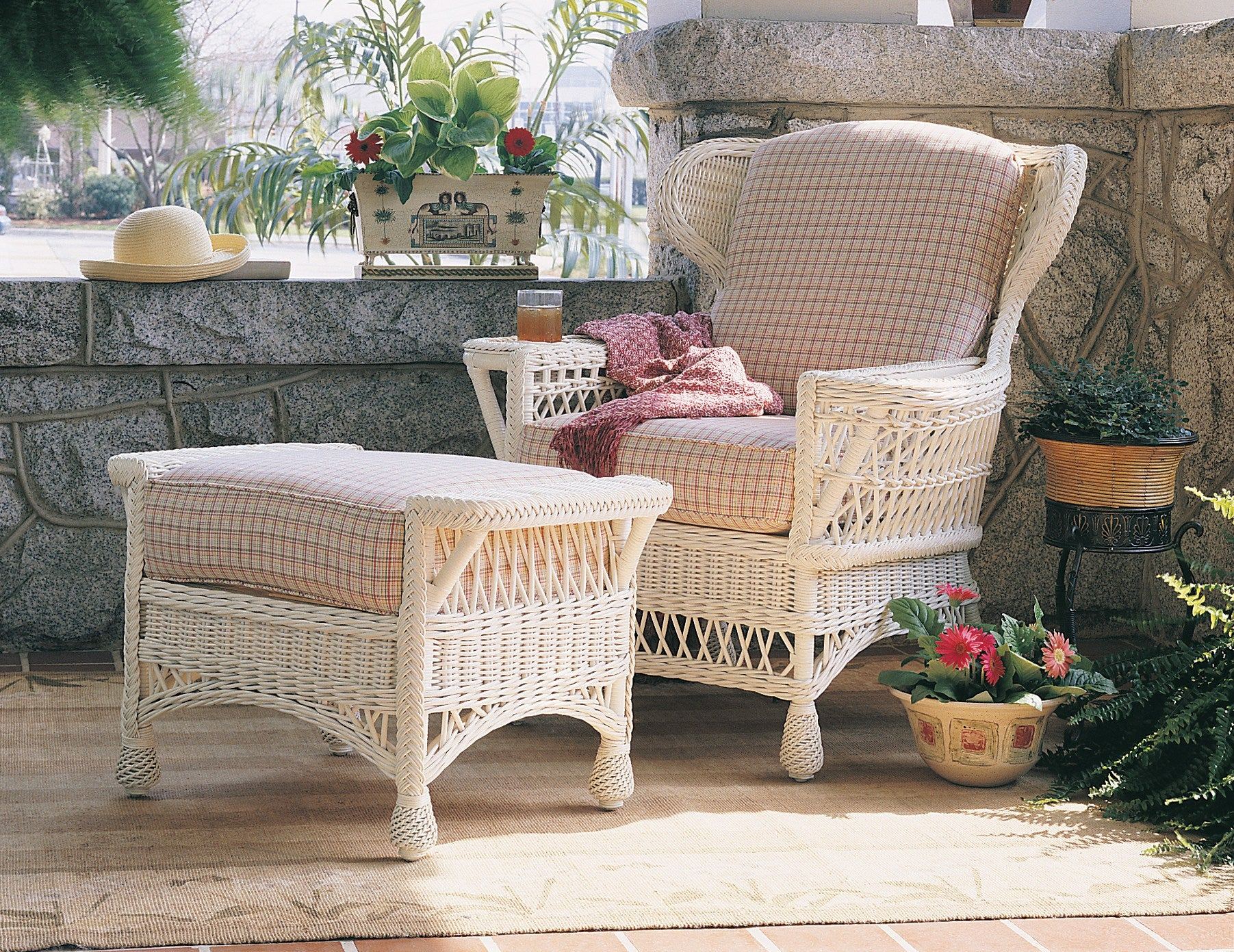 Designer Wicker & Rattan By Tribor Concord Arm Chair by Designer Wicker from Tribor Chair - Rattan Imports