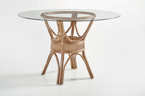 South Sea Rattan Bermuda Dining Table Pedestal
