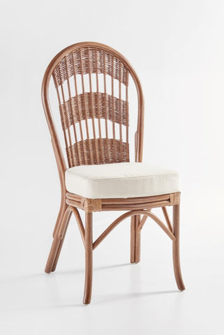 South Sea Rattan Bermuda Side Chair