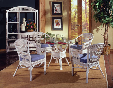 "South Sea Rattan Bermuda 48"" Dining Set"