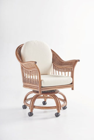 South Sea Rattan Bermuda Swivel Tilt Caster Chair