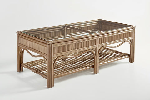South Sea Rattan Bermuda Coffee Table