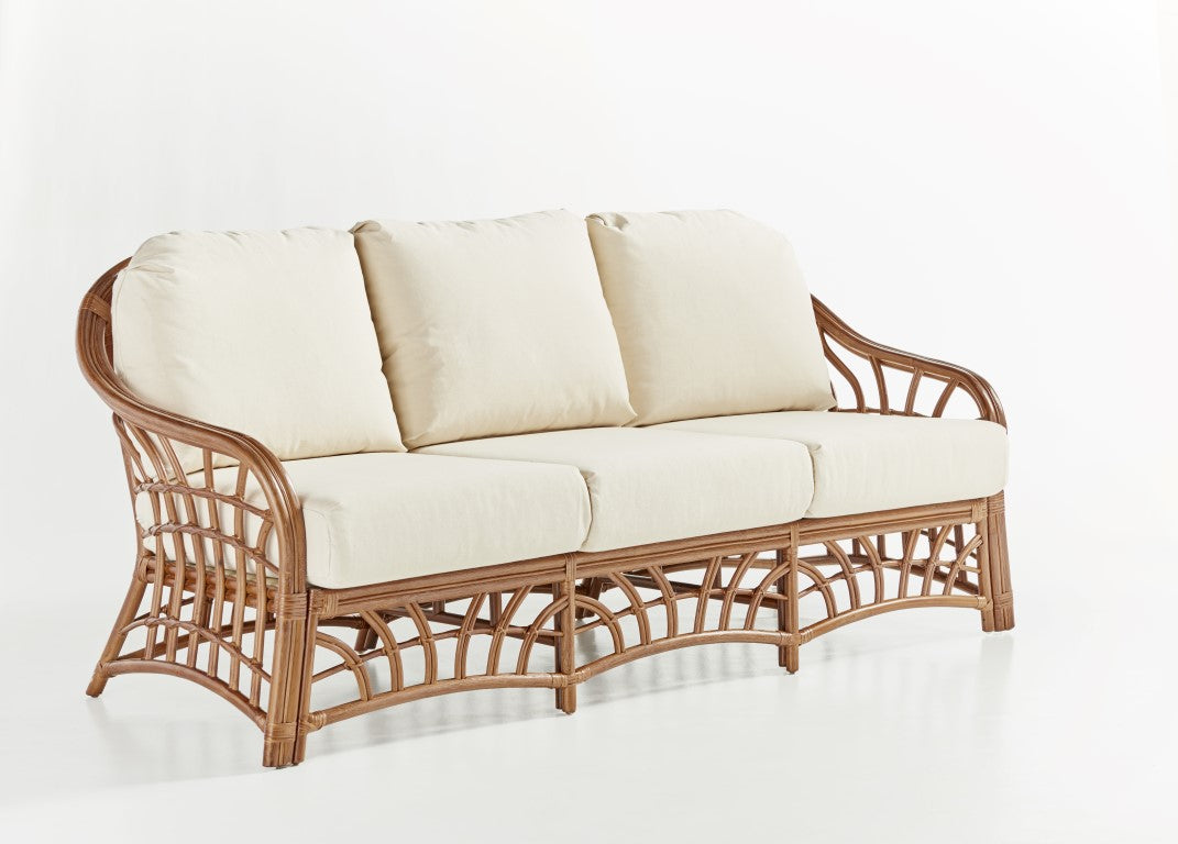 South Sea Rattan New Kauai Sofa in Pecan