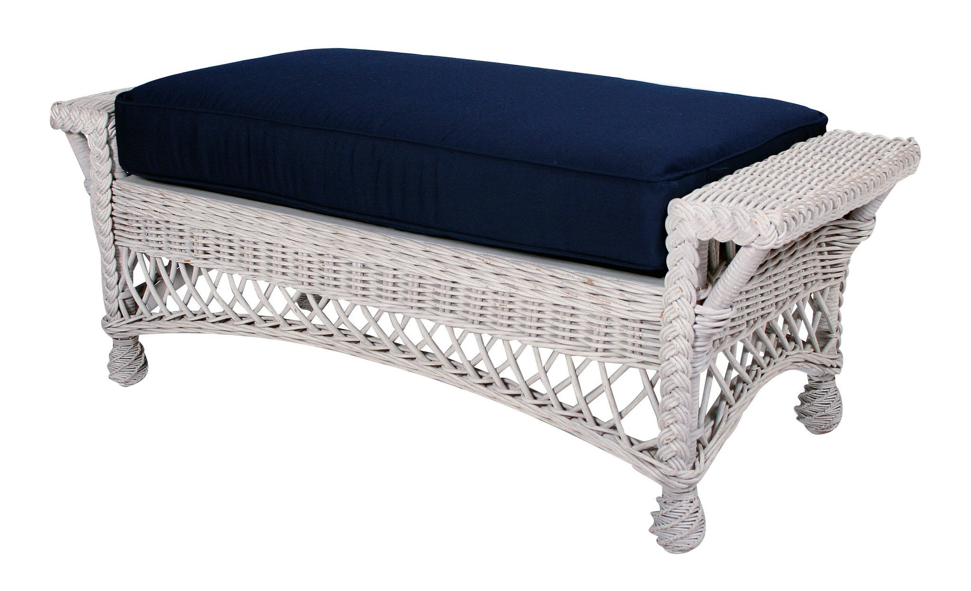 Designer Wicker & Rattan By Tribor Rockport Ottoman and a Half by Designer Wicker from Tribor Ottoman - Rattan Imports