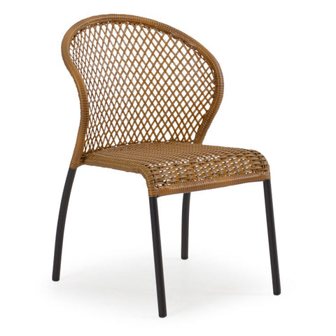 Palm Springs Rattan - Outdoor Bistro Dining Chair 3211 Bamboo - Bamboo Wicker -  - 2