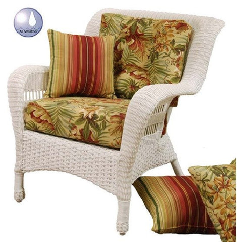Charles Schober Resin Alum Chair With Cushions  - Rattan Imports