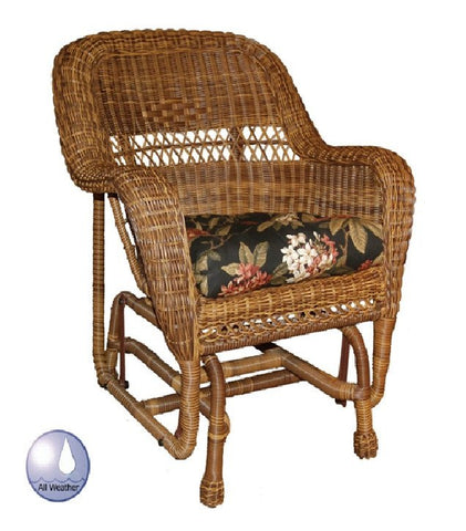 Charles Schober Resin Alum Ahair Glider With Cushion  - Rattan Imports