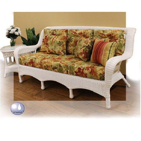 Charles Schober Resin Alum 3-seat Sofa With Cushions  - Rattan Imports