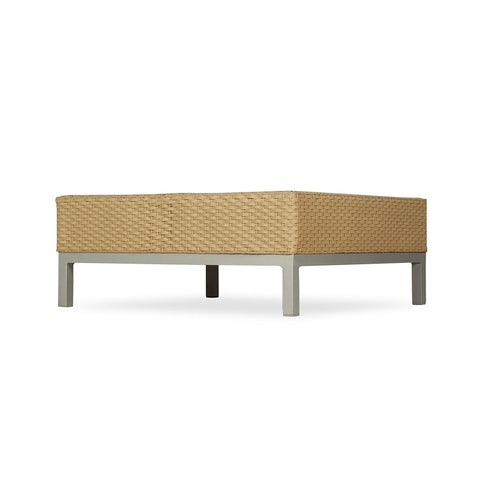 Lloyd Flanders Lloyd Flanders Elements End Table W/Lay On Glass With Stainless Steel Base End Table - Rattan Imports