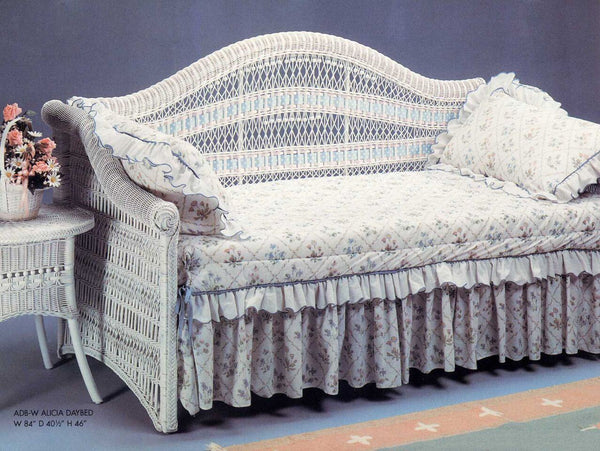ALICIA DAYBED BACK WHITE-Yesteryear Wicker-Rattan Imports