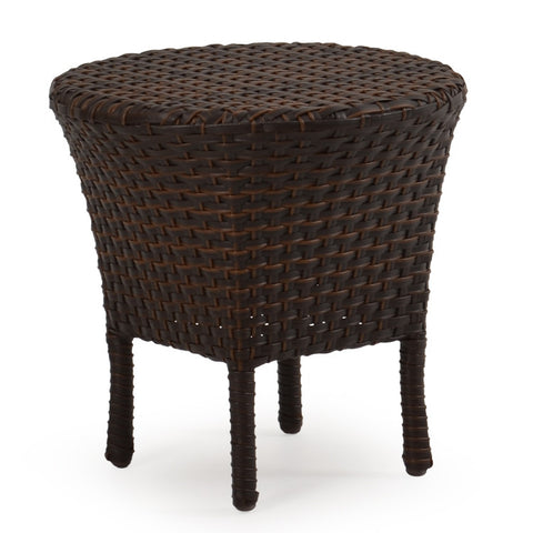 Palm Springs Rattan - Outdoor Woven Tea Table Oyster Grey 6018 - Tortise shell -  - 1