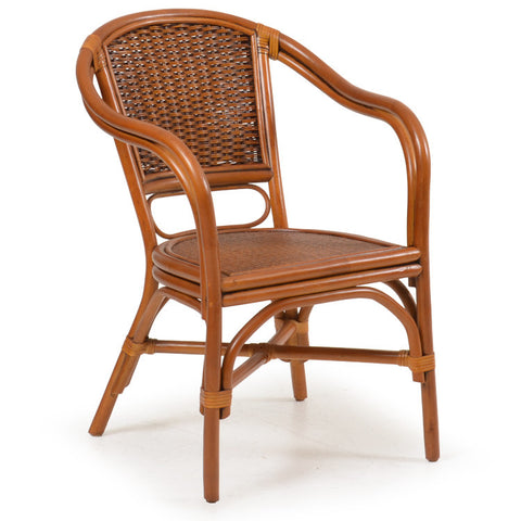 Watermark Living - Rattan Dining Arm Chair 7910 - Oak -  - 1