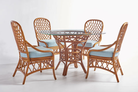 "South Sea Rattan Antigua 48"" Round Dining Set"