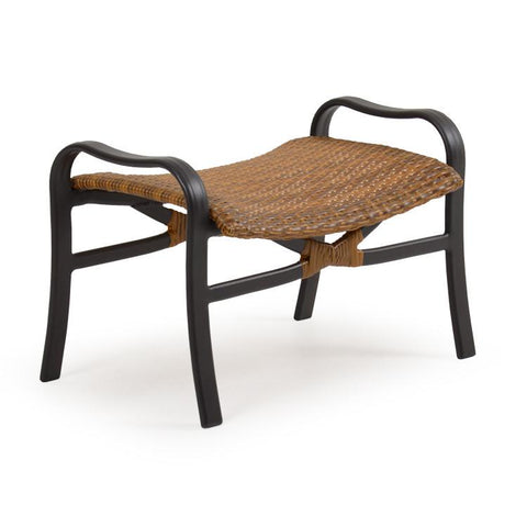 Palm Springs Rattan Outdoor Wicker Large Ottoman 3208 Bamboo Weave-Palm Springs Rattan-Rattan Imports