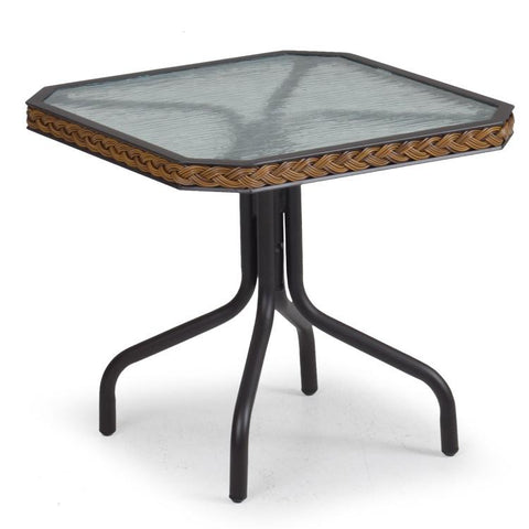 "Watermark Living Watermark Living Cape Town Outdoor 19"" Tea Table 3219 Bamboo End Table - Rattan Imports"