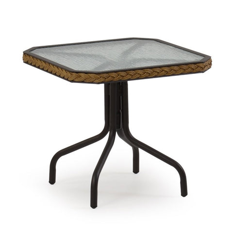 "Watermark Living Watermark Living Cape Town Outdoor 19"" Tea Table Coconut 3219 End Table - Rattan Imports"
