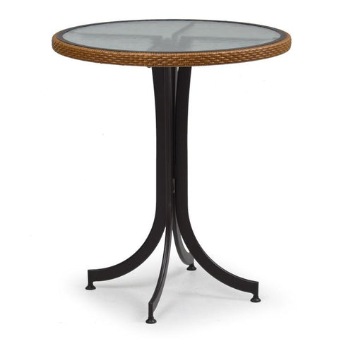 "Watermark Living Counter Height 30"" Round Table 3298 Bamboo End Table - Rattan Imports"