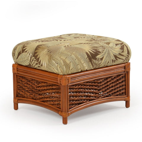 Palm Springs Rattan - Rattan Rectangle Ottoman 3509 -  -  - 1