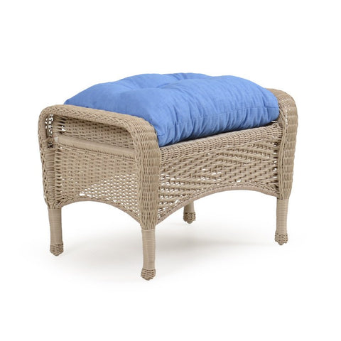 Palm Springs Rattan - Outdoor Wicker Ottoman Whitewash 3608 -  -  - 1