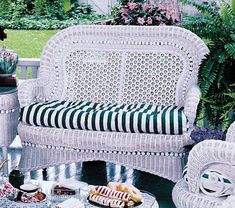 Spice Islands Spice Islands Country Love Seat White Loveseat - Rattan Imports