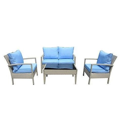 Thy-HOM Baymont 4-Piece All Weather Wicker Conversation Set Conversation Set - Rattan Imports