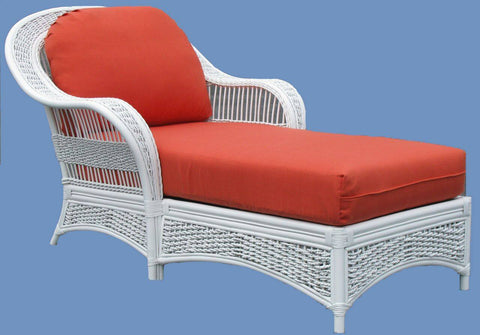 Spice Islands Spice Islands Regatta Chaise Lounge White Lounge Chair - Rattan Imports