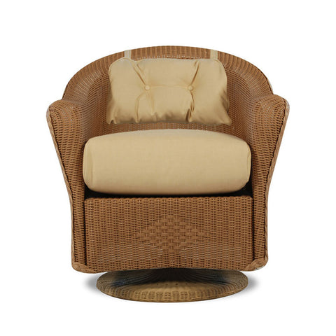 Lloyd Flanders Lloyd Flanders Reflections Swivel Rocker Dining Chair With Back Pad Dining Chair - Rattan Imports
