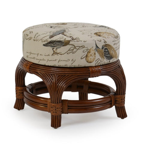 Watermark Living Watermark Living Sinclair Round Ottoman 5440 Ottoman - Rattan Imports
