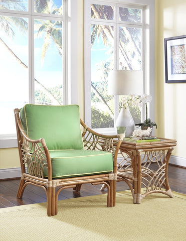 Spice Islands Spice Islands Bali End Table Brownwash End Table - Rattan Imports