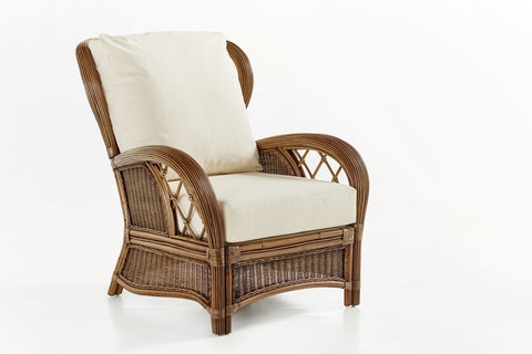 South Sea Rattan Bali Armchair in Almond