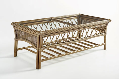 South Sea Rattan Bali Coffee Table in Almond