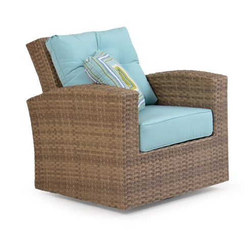 Watermark Living Watermark Living Northport Outdoor Swivel Glider Oyster Gray 6391 Chair - Rattan Imports